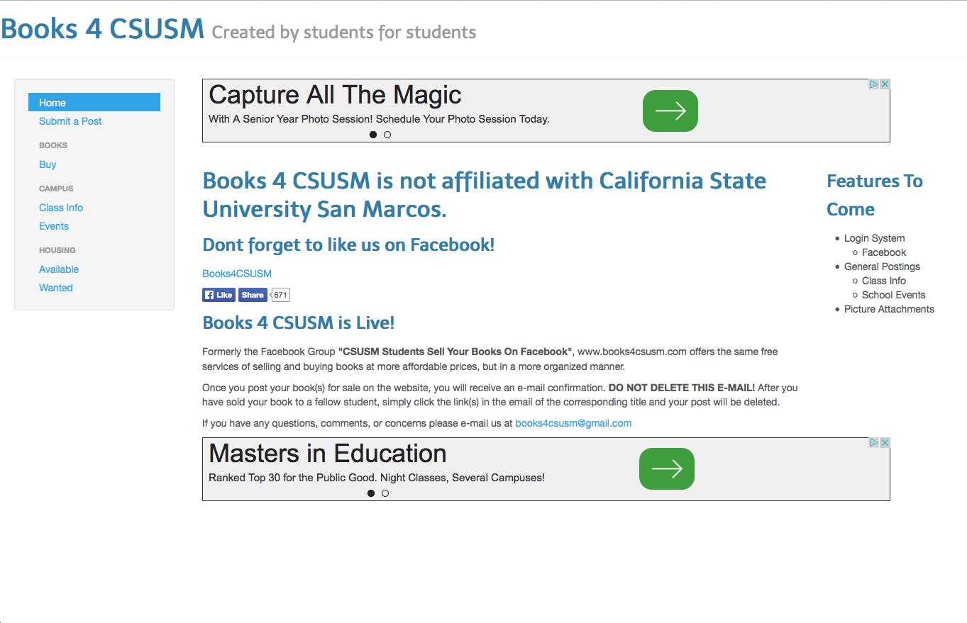 books4csusm_web_page_after_University_Letter