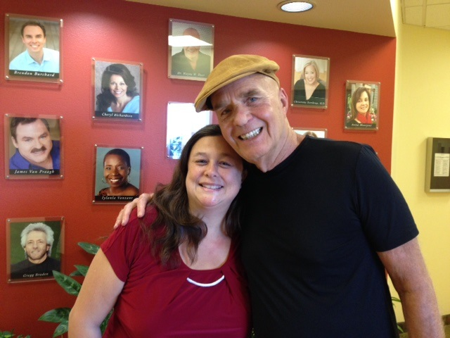 Dr. Wayne Dyer and myself at Hay House Publishing, Carlsbad, CA. Taken by Diane Ray.